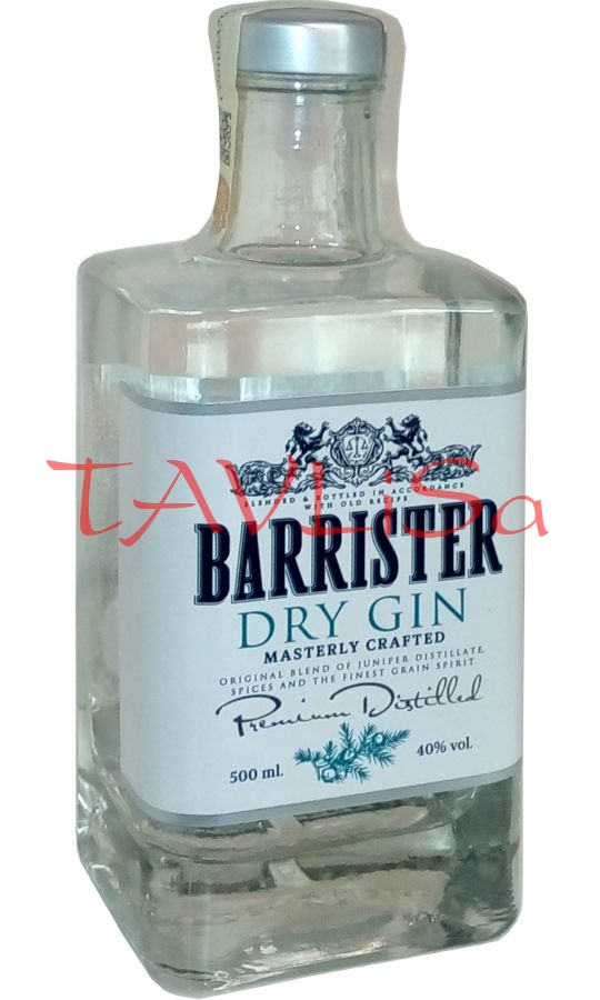 Gin Dry Barrister 40% 0,5l Ladoga